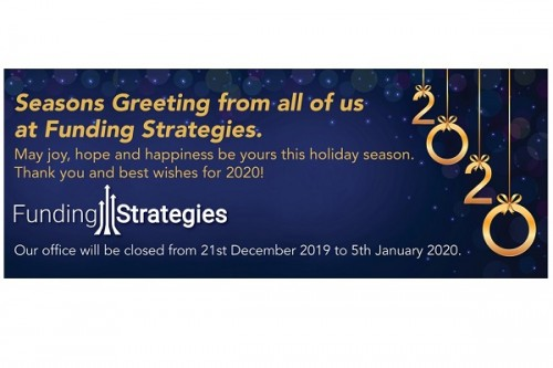 Best Wishes for the Festive Season - Funding Strategies Newsletter December 2019